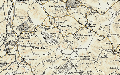 Old map of Camps End in 1898-1901