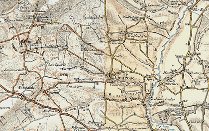 Old map of Camrose in 1901-1912