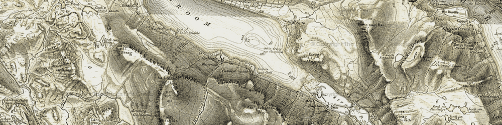 Old map of Allt Airdeasaidh in 1908-1910
