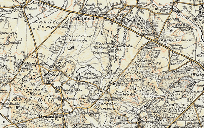 Old map of West Wellow Common in 1897-1909