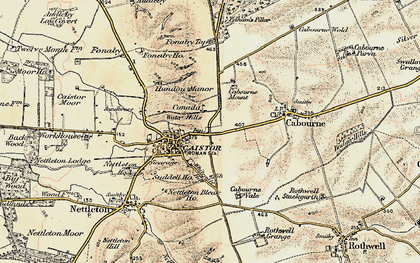 Old map of Whitegate Hill in 1903-1908
