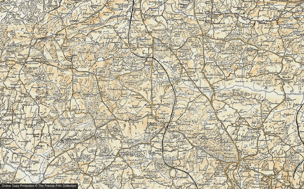 Old Map of Historic Map covering Woodsdale in 1898