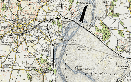 Old map of Barker Scar in 1903-1904