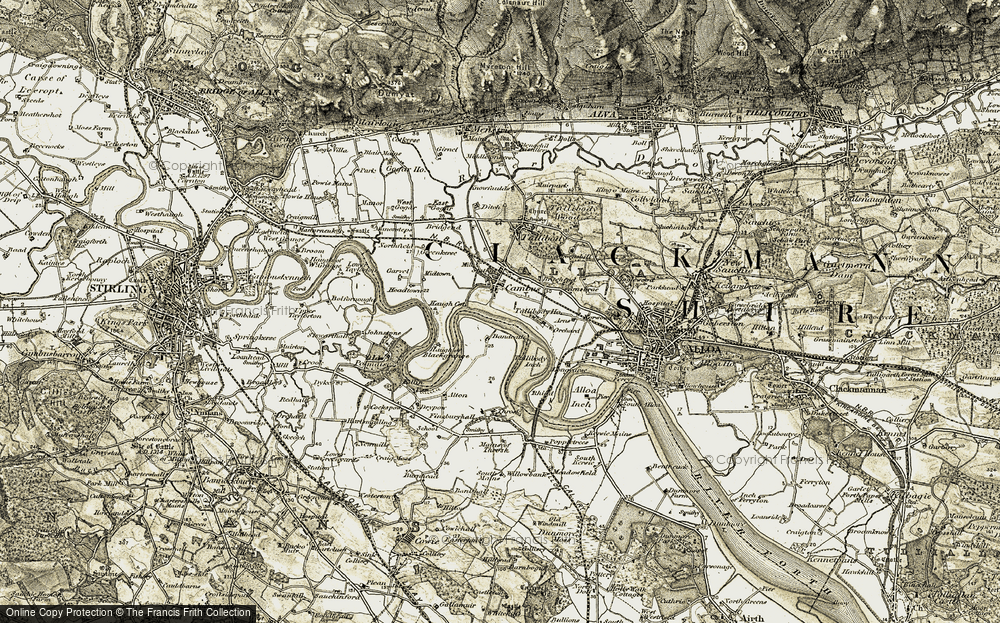 Old Map of Historic Map covering Bandeath Industrial Estate in 1904-1907