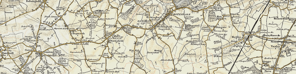 Old map of Westhall Wood in 1901