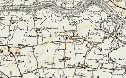 Old map of Canewdon in 1898