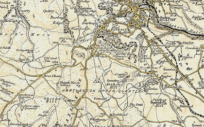 Old map of Leap Edge in 1902-1903
