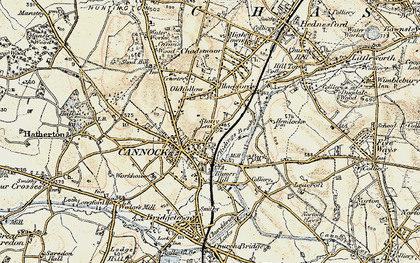 Old map of Cannock in 1902