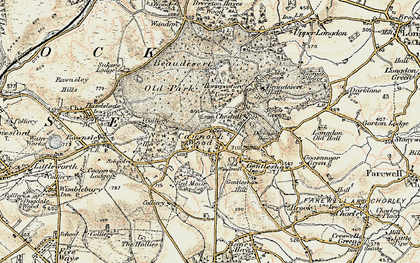 Old map of Cannock Wood in 1902