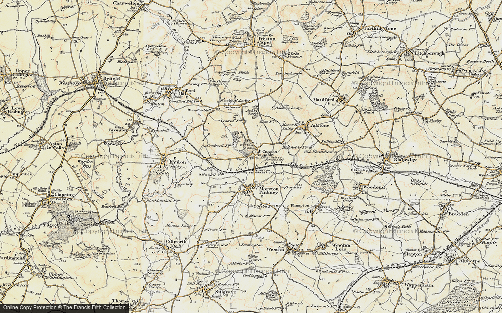 Old Map of Historic Map covering Ashby Gorse in 1898-1901