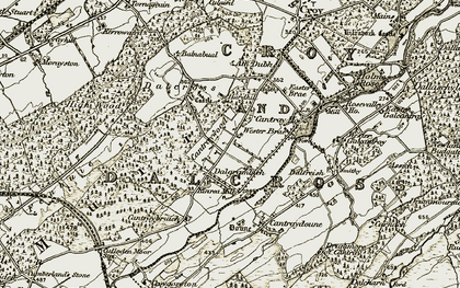 Old map of Wester Brae of Cantray in 1911-1912