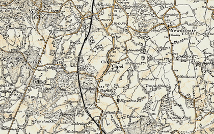 Old map of Capel in 1898-1909