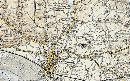 Old map of Capel in 1900-1901