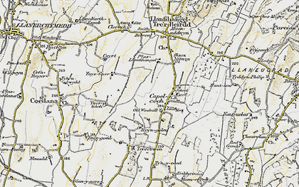 Old map of Ynys Fawr in 1903-1910