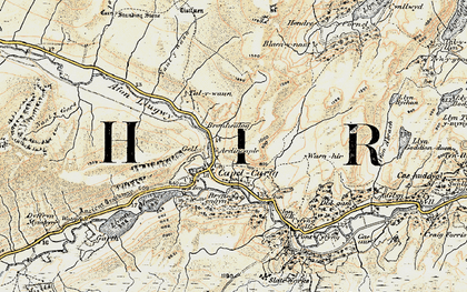 Old map of Capel Curig in 1902-1903
