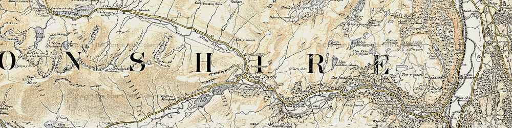 Old map of Afon y Bedol in 1902-1903