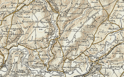 Old map of Afon Clettwr in 1901