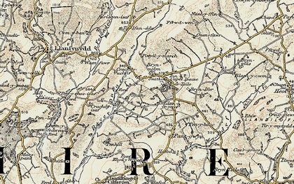Old map of Tirpab in 1900-1901