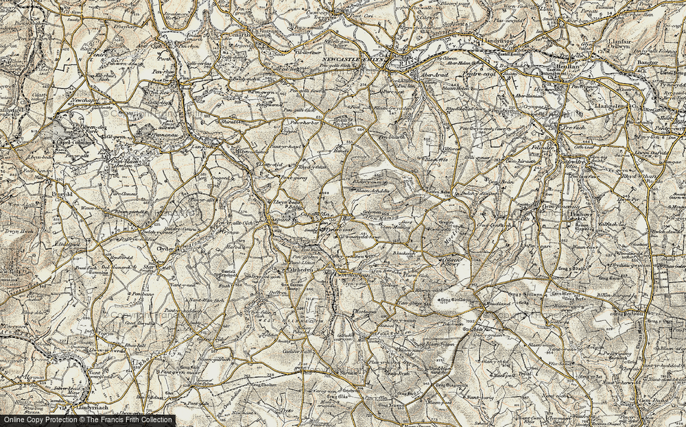 Old Map of Historic Map covering Afon Mamog in 1901