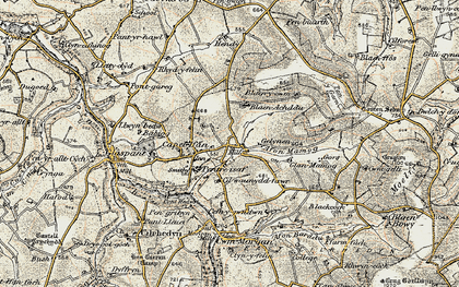 Old map of Capel Iwan in 1901