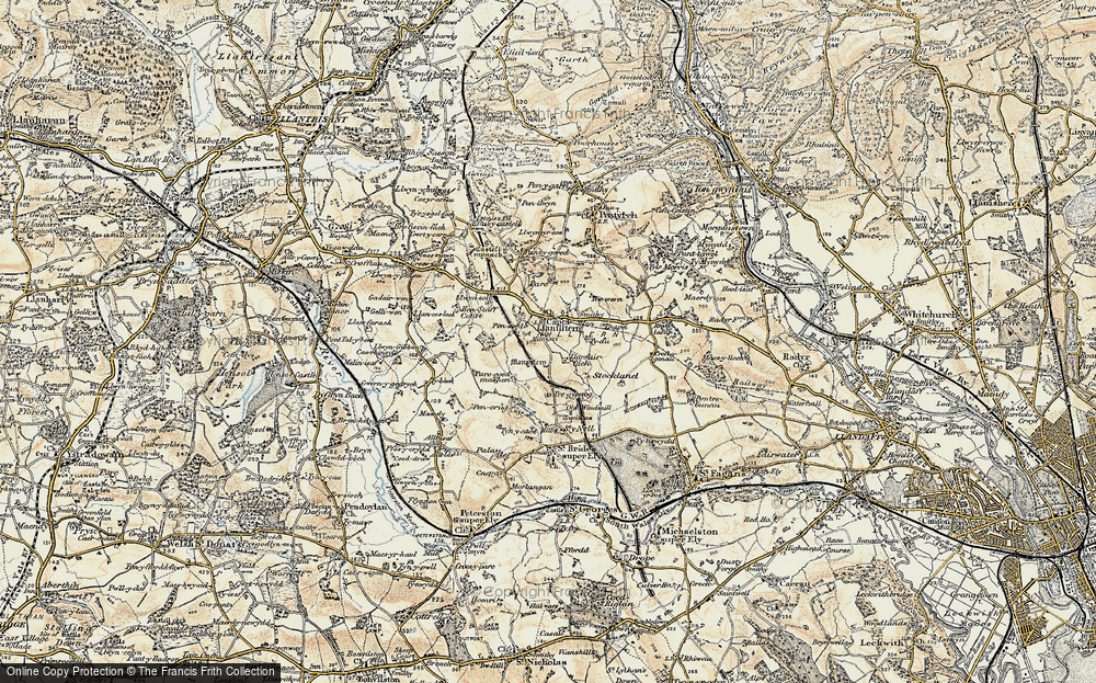 Old Map of Capel Llanilltern, 1899-1900 in 1899-1900