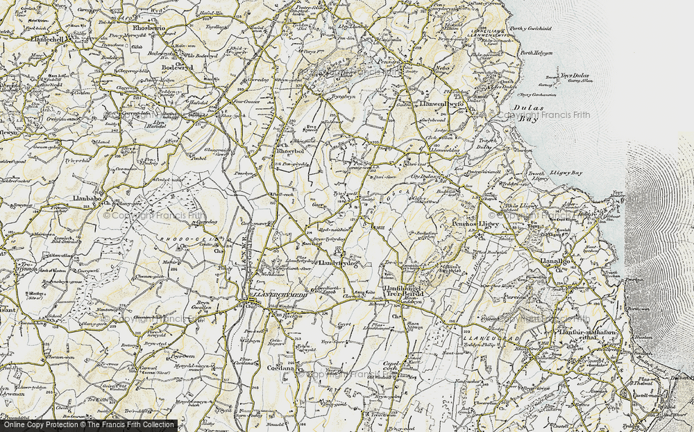 Old Map of Historic Map covering Afon Goch in 1903-1910