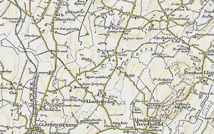 Old map of Afon Goch in 1903-1910