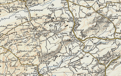 Old map of Capel Seion in 1900-1901