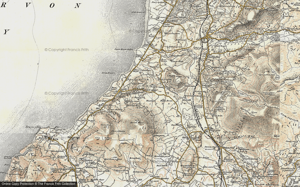 Old Map of Historic Map covering Afon Desach in 1903