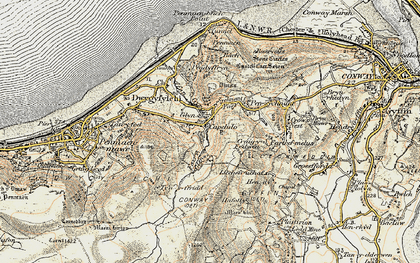 Old map of Capelulo in 1902-1903