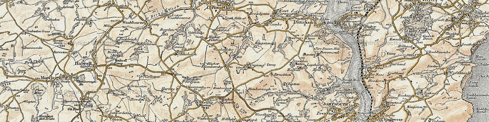 Old map of Woollcombe in 1899