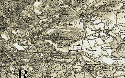Old map of Whins of Fordie in 1907-1908