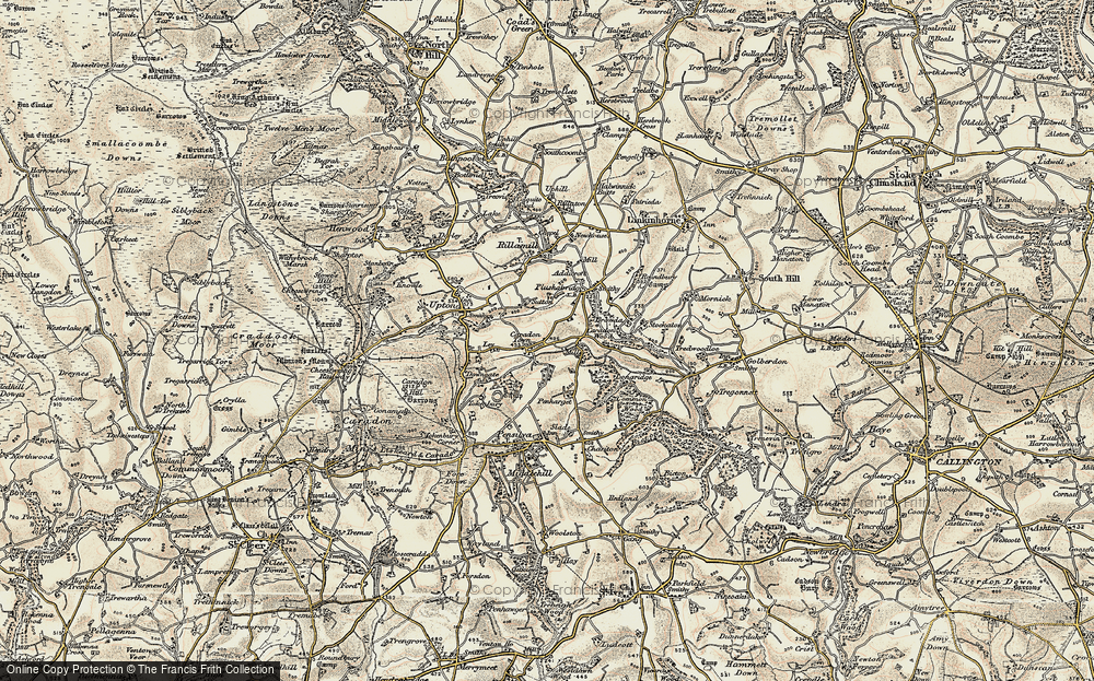 Old Map of Historic Map covering Addicroft in 1900