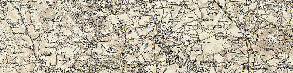 Old map of Addicroft in 1900