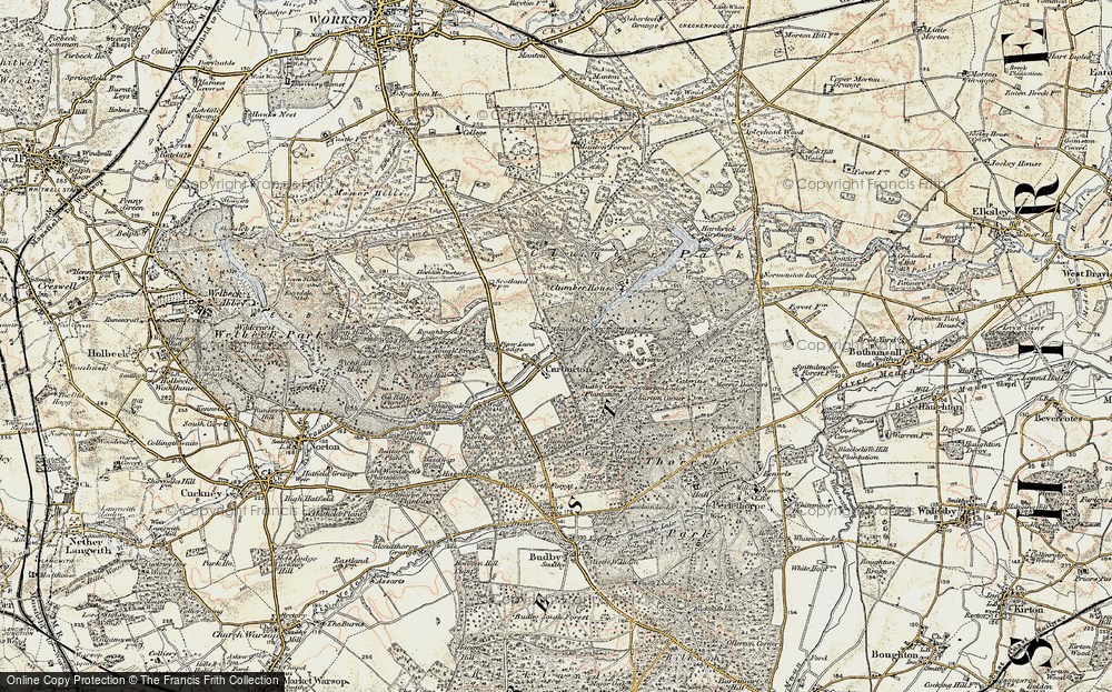 Old Map of Historic Map covering Aviaries, The in 1902-1903