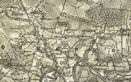Old map of Tomore in 1908-1911