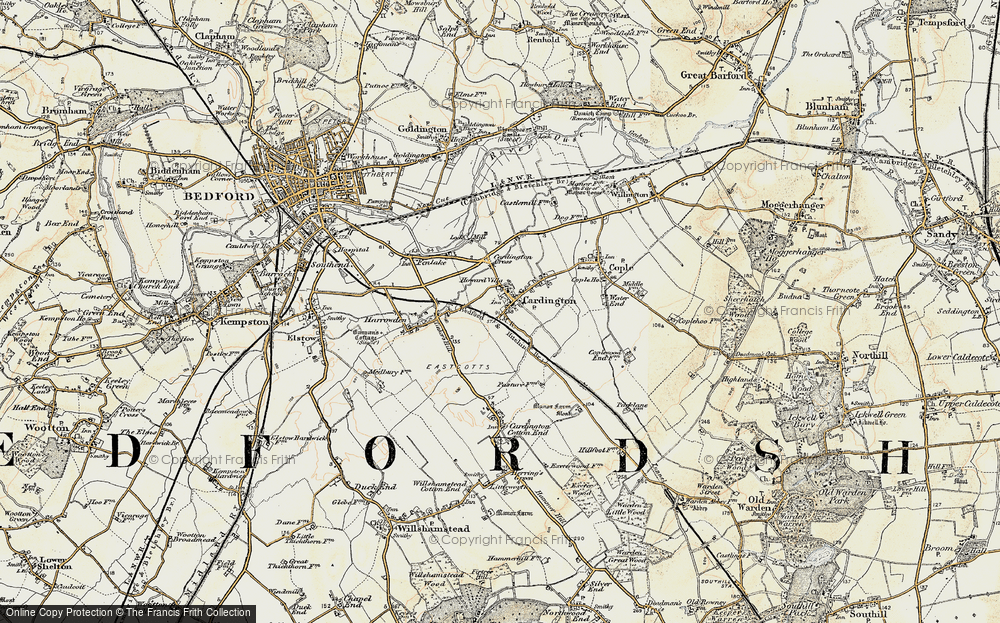 Old Map of Cardington, 1898-1901 in 1898-1901