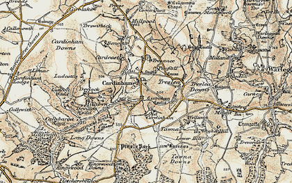 Old map of Cardinham in 1900