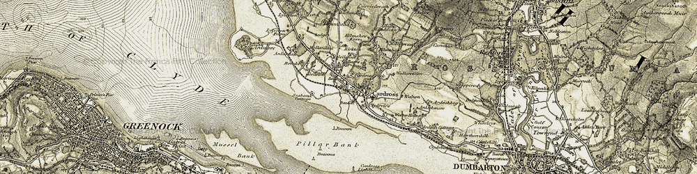 Old map of Westerhill in 1905-1907