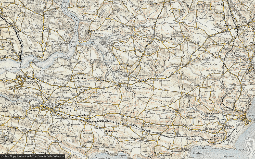 Old Map of Carew, 1901-1912 in 1901-1912