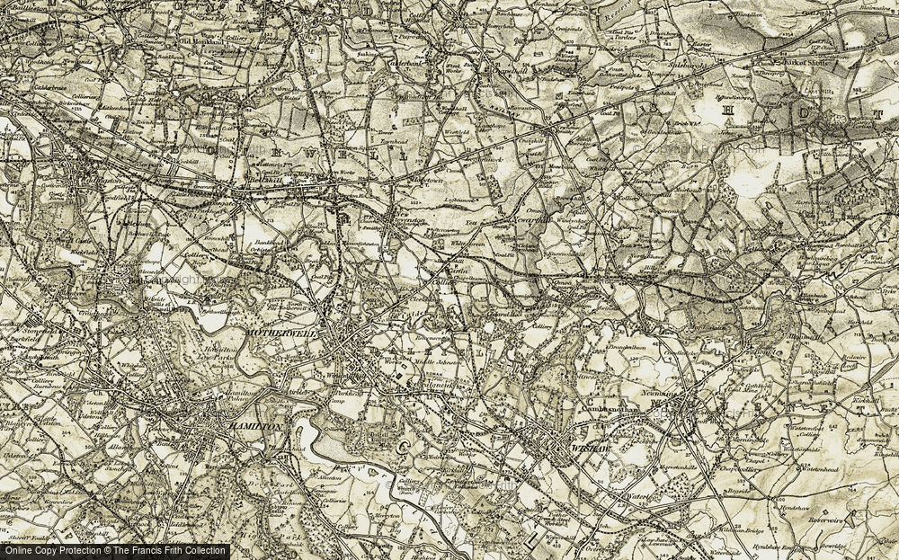 Old Map of Carfin, 1904-1905 in 1904-1905
