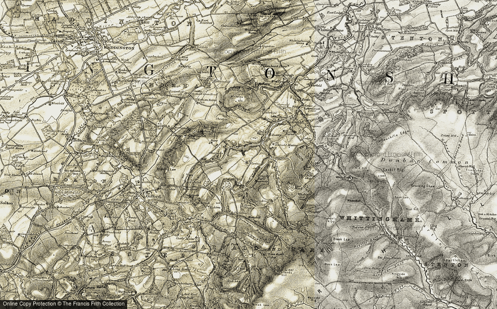 Old Map of Historic Map covering Bara Wood in 1901-1903