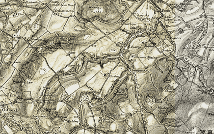 Old map of Bara Wood in 1901-1903