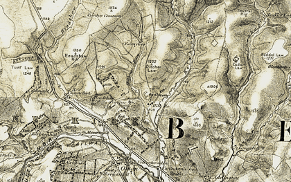 Old map of Carfrae Castle in 1903-1904