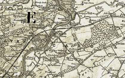 Old map of West Woodend in 1907-1908
