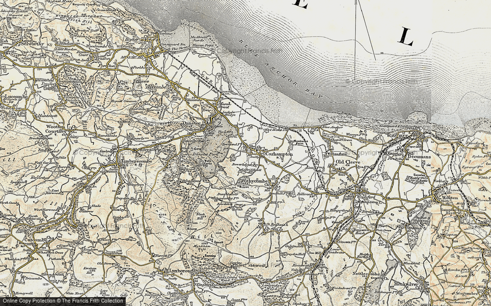 Old Map of Carhampton, 1898-1900 in 1898-1900