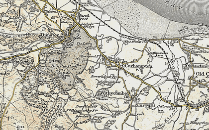 Old map of Aller Hill in 1898-1900