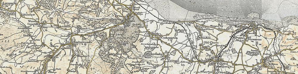 Old map of Carhampton in 1898-1900