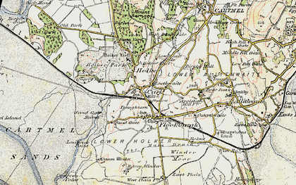 Old map of Cark in 1903-1904
