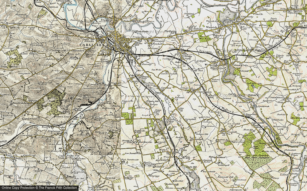 Old Map of Historic Map covering Woodbank Ho in 1901-1904
